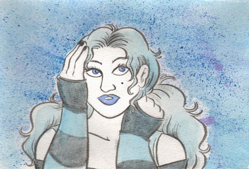 Hipster Girl - Blue