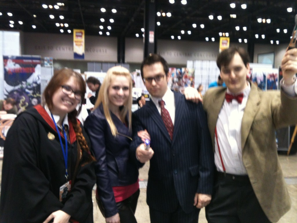 Megan in on the far left.  Once again C2E2 becomes home to another Nerd Singularity...