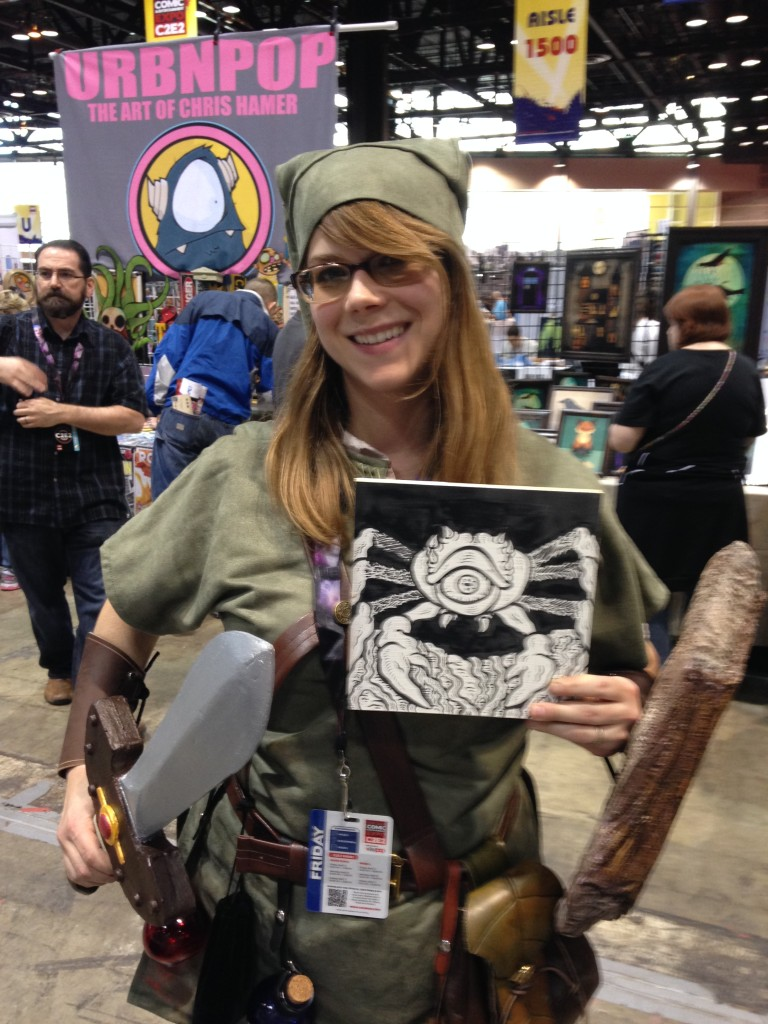 "REAL TALK: This girl bought one of my ""Legend of Zelda"" originals (holding it in her left hand).  Couldn't have gone to a more perfect home."