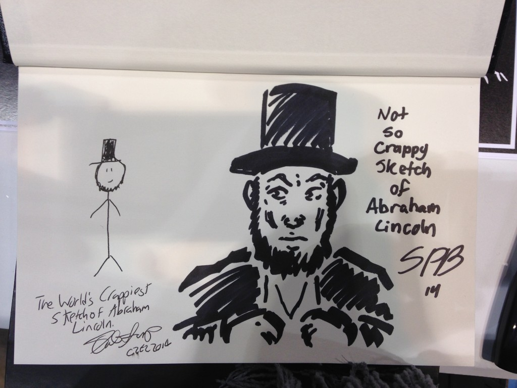 Crappy Abraham Lincoln with Not-So-Crappy Abraham Lincoln.